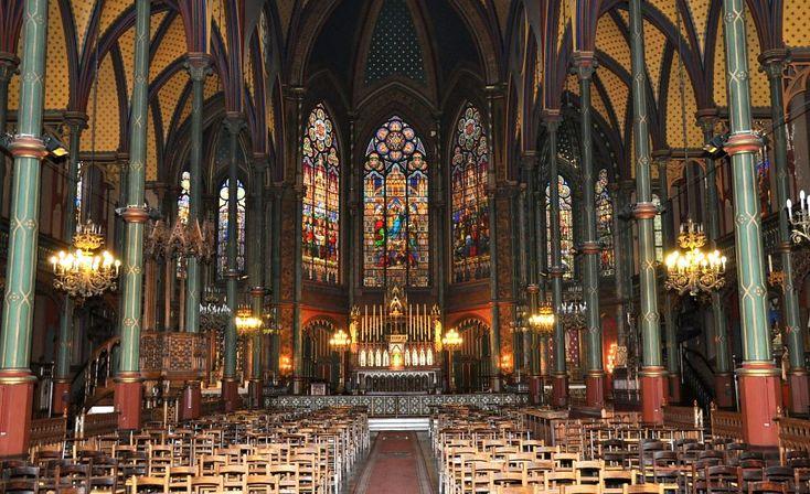 Boileau - XIXe. La nef de Saint-Eugène-Saint Cecile in Paris, France ... we went Holy Thursday Mass here!