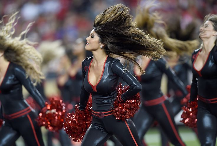 Goldrush Cheerleaders 2015 - black and red is hot