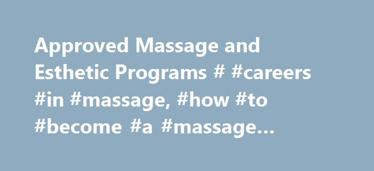 Approved Massage and Esthetic Programs # #careers #in #massage, #how #to #become #a #massage #therapist # http://raleigh.remmont.com/approved-massage-and-esthetic-programs-careers-in-massage-how-to-become-a-massage-therapist/  # Health Enrichment Center, Inc. 204 E Nepessing St Lapeer, MI 48446-2316 Tel: 810-667-9453 Fax: 810-667-4095 hwww.healthenrichment.com Institute for Massage Education, LLC 5360 Holiday Terrace, Suite 22 Kalamazoo, MI 49009 Tel: 269-373-0910 Fax: 269-373-0271…