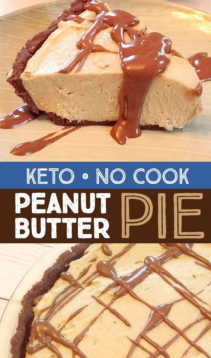 Rich & creamy no cook keto chocolate peanut butter pie! It's also gluten and gra…
