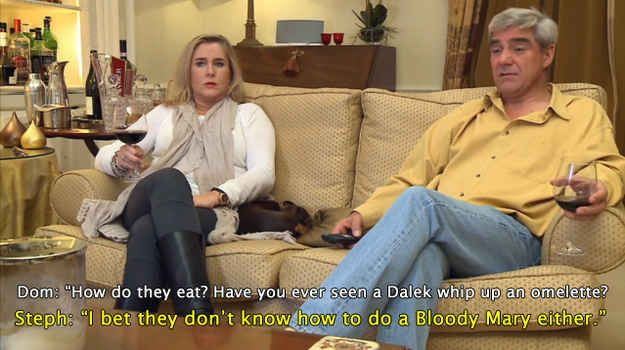 """Gogglebox is also brilliant because of the random things the viewers say. Like this during Doctor Who . 