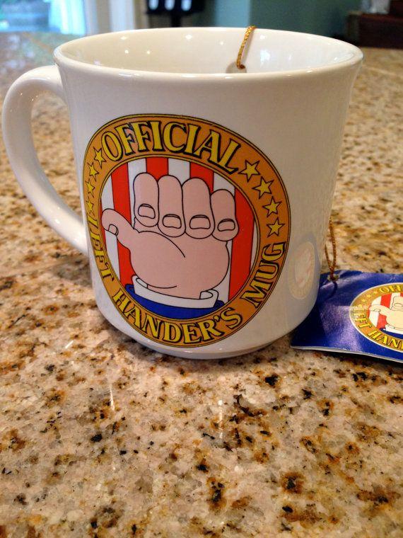Funny Left handers mug joke gift idea by happykristen on Etsy