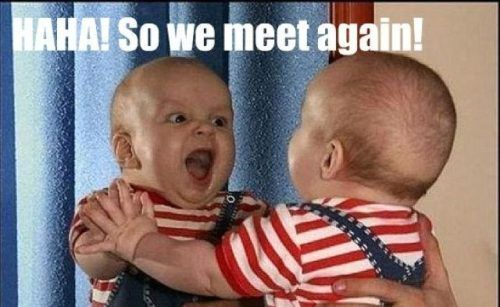 : Make Me Laughing, Evil Twin, Funny Pictures, Baby Memes, Make New Friends, Baby Faces, So Funny, Funny Baby, Kid