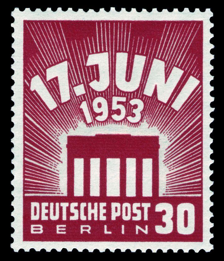 DBPB 1953 17.Juni Volksaufstand in der DDR Briefmarken