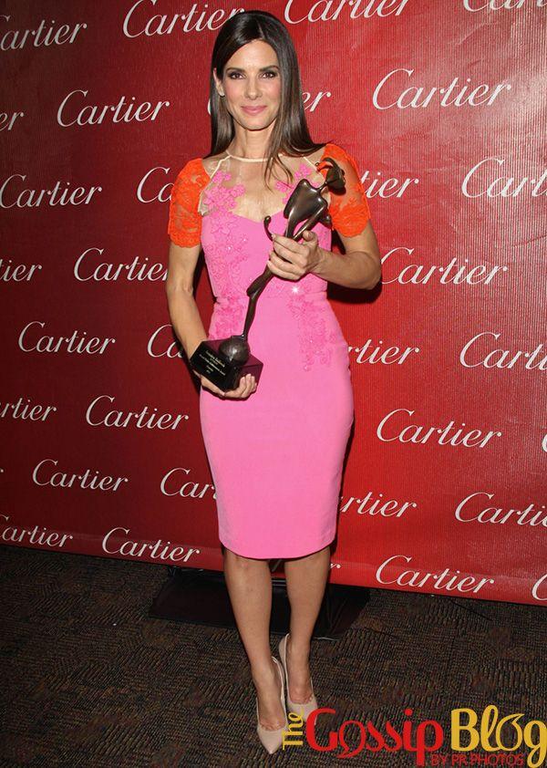 Sandra Bullock in Alex Perry. Sandy took home the Desert Palm Achievement Award – Actress.