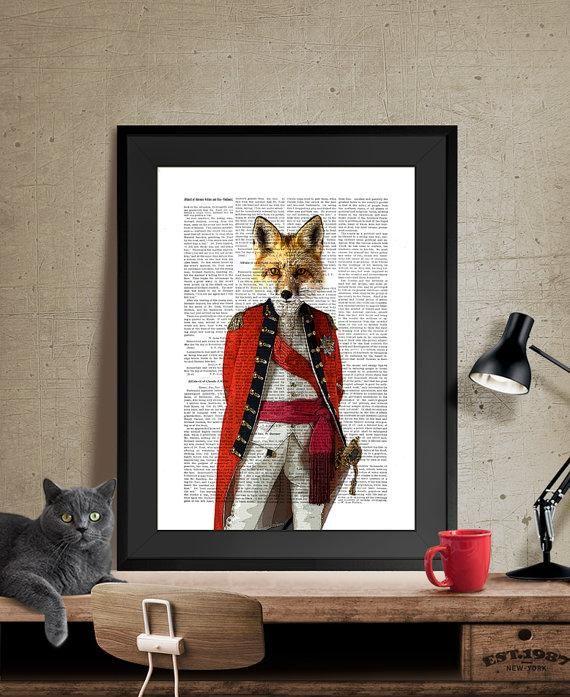 """BobAndJoe Fox Collection"" Canvas Painting"
