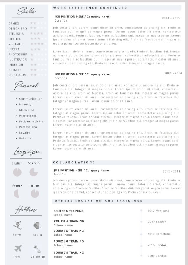 Professional cover letter template 25 professional resume cover letter template editable for ms word curriculum vitae english cv yelopaper Image collections