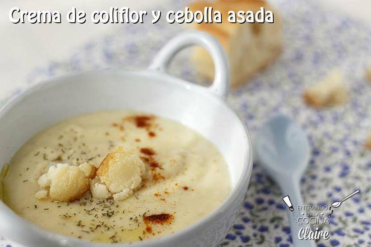 Crema coliflor y cebolla asada