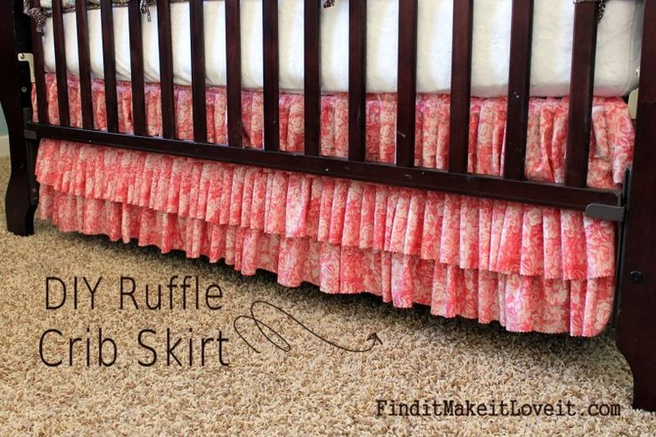 DIY Ruffle Crib Skirt. So easy, inexpensive, and you don't have to be a seamstress! Find it, make it, love it.