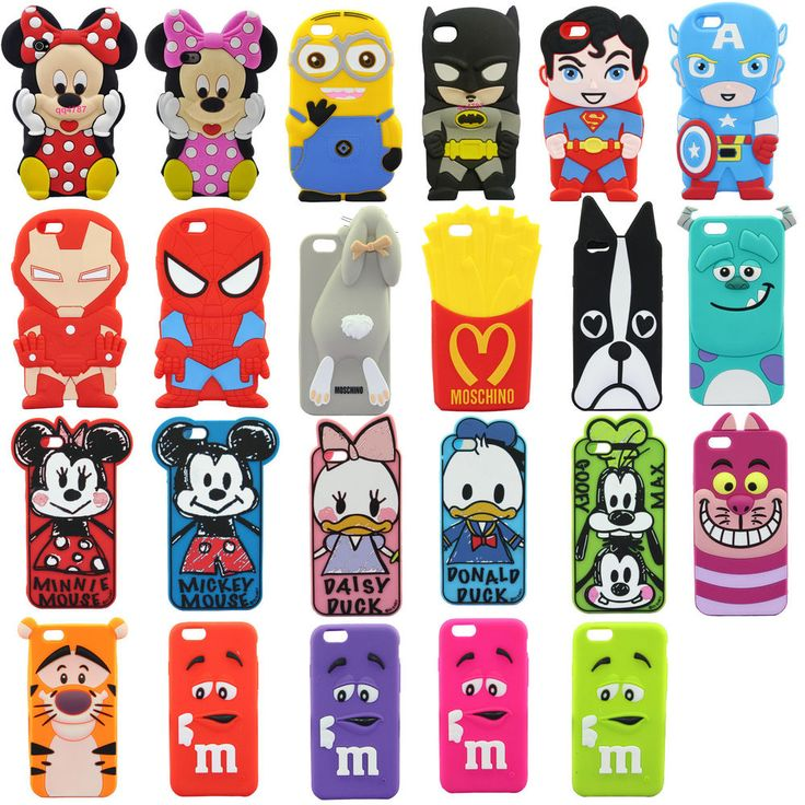 3D Disney CARTOON Silicone Case Cover for 4.7 inch Iphone 6G 6 cellphone Child