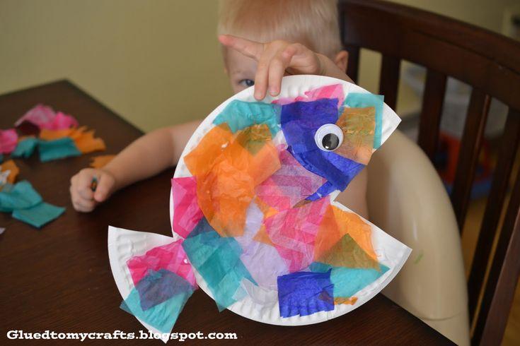 Summer DIY: Tropical Fish Paper Plate, Perfect Preschool Craft.