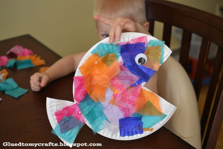 Summer DIY: Tropical Fish Paper Plate, Perfect Preschool Craft.