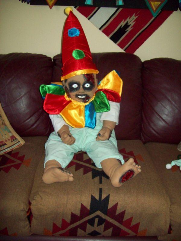 zombie baby clown 33 inch ebay - Scary Clown Halloween Decorations