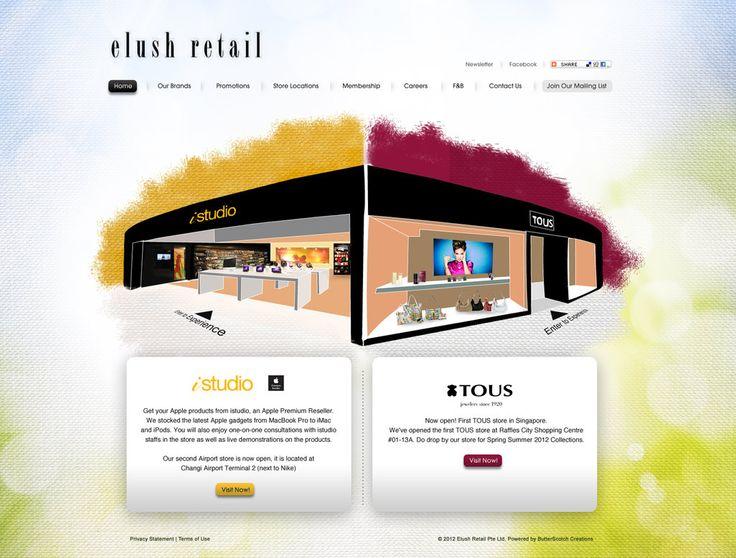 eLush Retail by ~armanique #webdesign #trend: Armaniqu Webdesign, Webdesign Trends, Website Inspiration, Inspiration Website, Websites Land