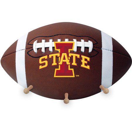 Iowa State University Football Coat Rack, Brown