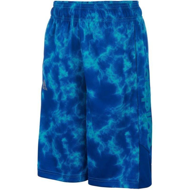 adidas Boys' Smoke Screen Shorts, Size: Small, Blue