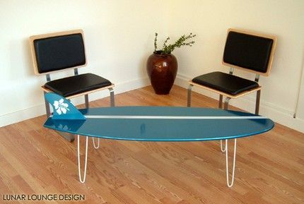 surf table basse recyclage