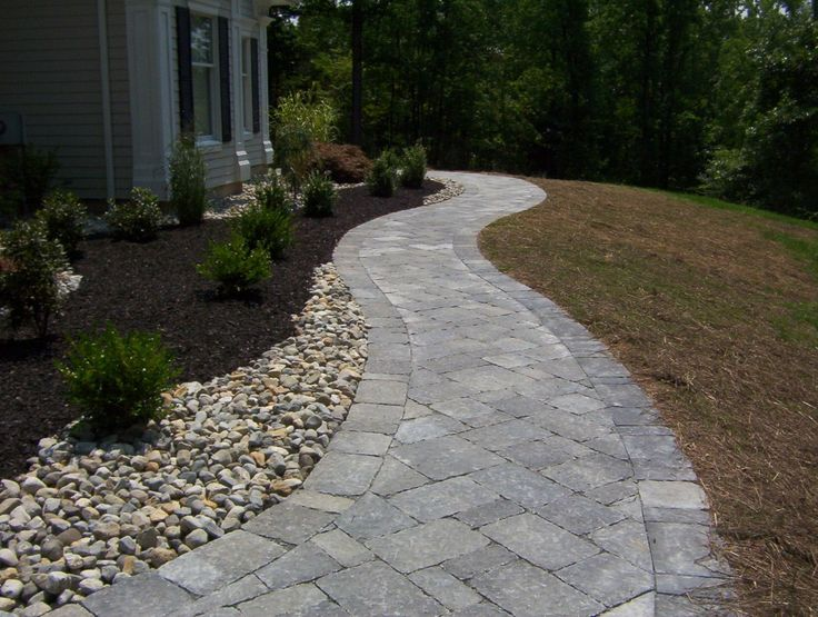frontwalkway | Front Walkway with Riverstones 4 | AffordableScapes Outdoor ...