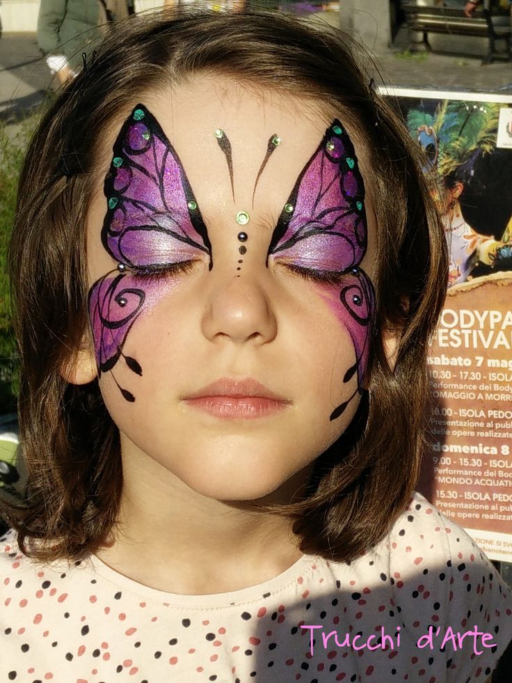 Famoso 454 best Face painting Butterflies & Flowers images on Pinterest  MX34