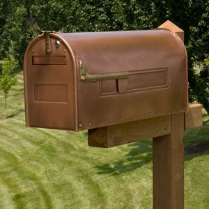 mailbox- shoulda bought more copper paint