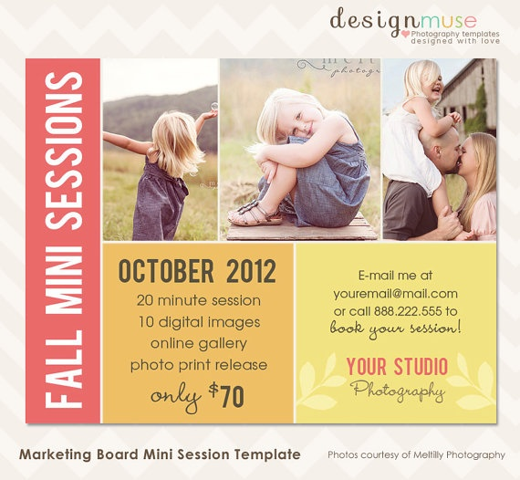 Fall photography marketing board template for mini sessions instant download photography for Photography marketing templates
