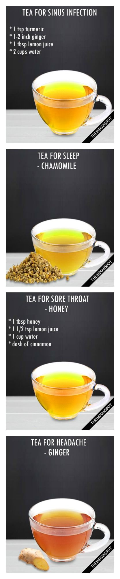 8 BEST HEALING TEA RECIPES for sinus, sore throat, headache and more