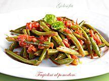 Fagiolini al pomodoro-ricetta gustosissima e veloce