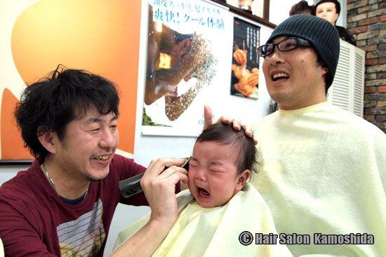 #はじめてのカット #赤ちゃんカット