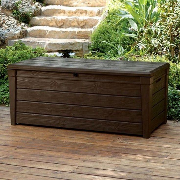 Deck Storage Box Outdoor 120 Gallon Bench Garden Patio Furniture Pool Decorative Keter