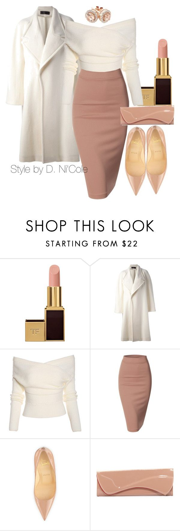"""Untitled #1955"" by stylebydnicole ❤ liked on Polyvore featuring Tom Ford, Haider Ackermann, Doublju, Christian Louboutin and Reeds Jewelers"