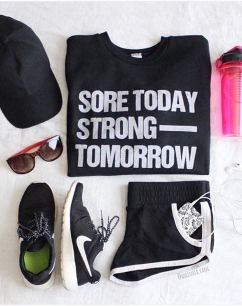 Motivation on a t-shirt. Love it