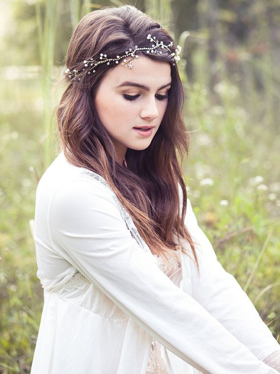 Wedding+pearl+and+crystal+headband+bridal+hair+vine+bohemian