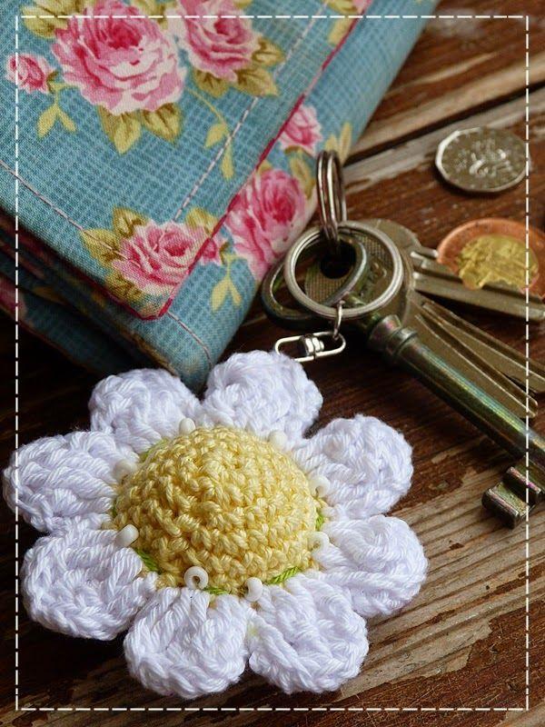 Kouzlo mého domova: Květinová klíčenka
