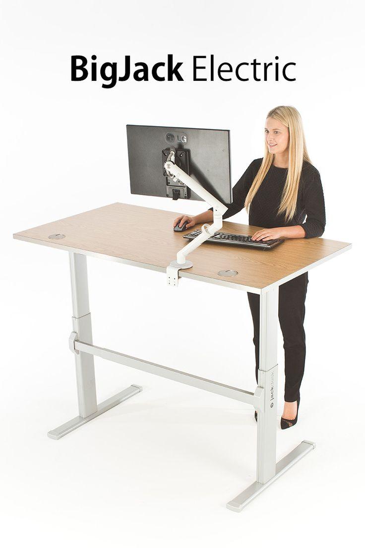 24 best industrial adjustable height desk ideas images on. Black Bedroom Furniture Sets. Home Design Ideas