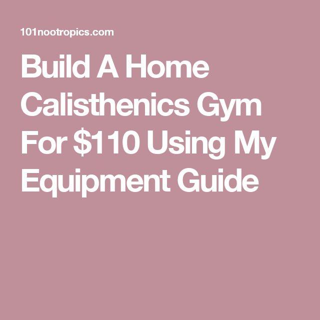 Build A Home Calisthenics Gym For $110 Using My Equipment Guide