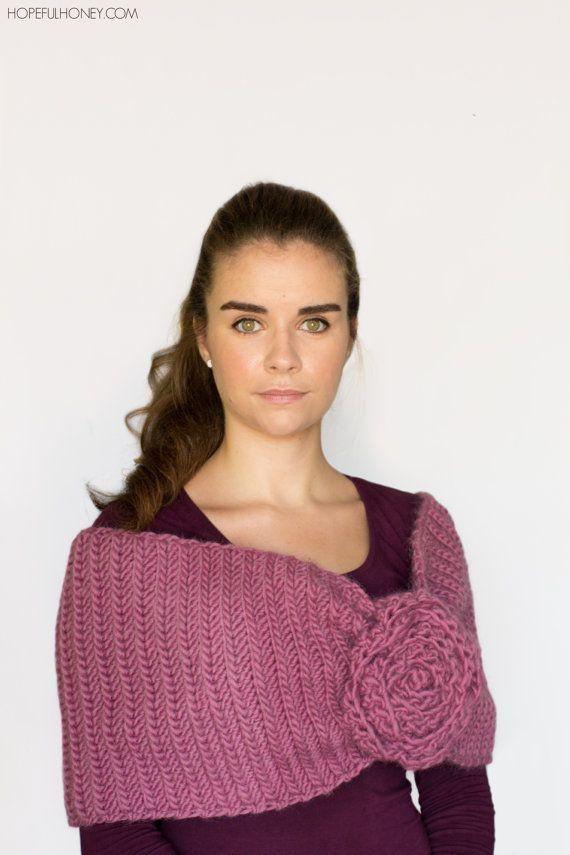 Excepcional Encogimiento De Hombros Crochet Plus Patrón De Tamaño ...