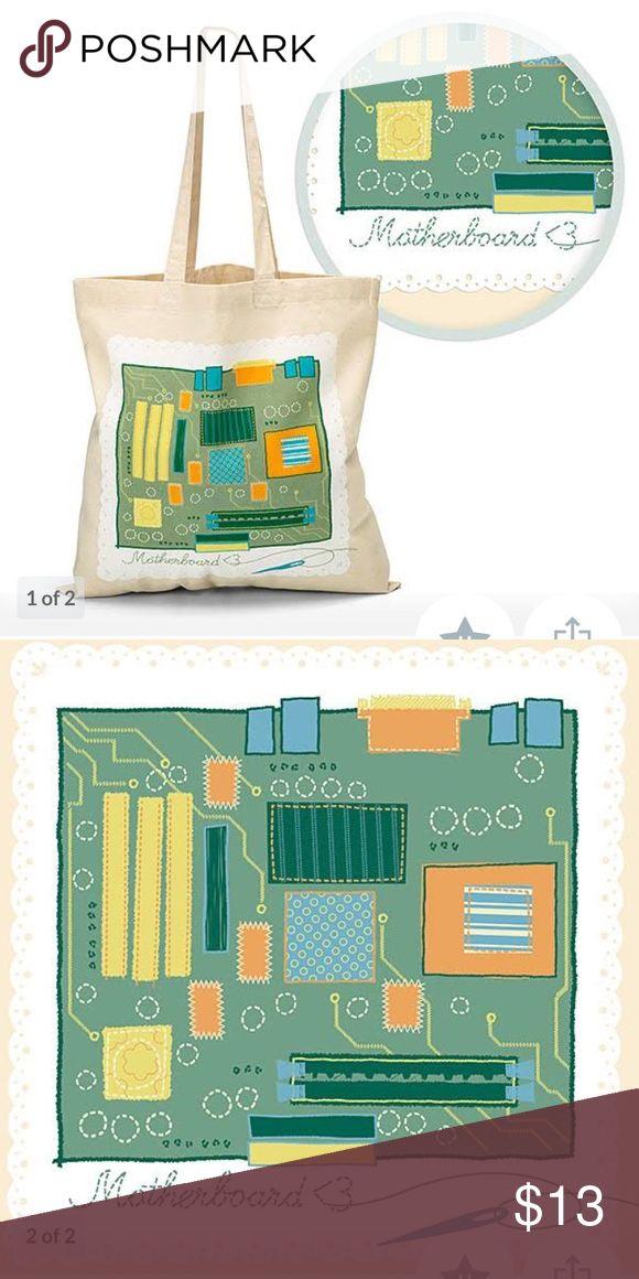 Motherboard tote from ThinkGeek.  NWT Motherboard tote from ThinkGeek.  NWT. Perfect for Mother's Day think geek Bags Totes