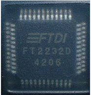 FT2232D FT2232 FTDI QFP-48 USB to serial control chip