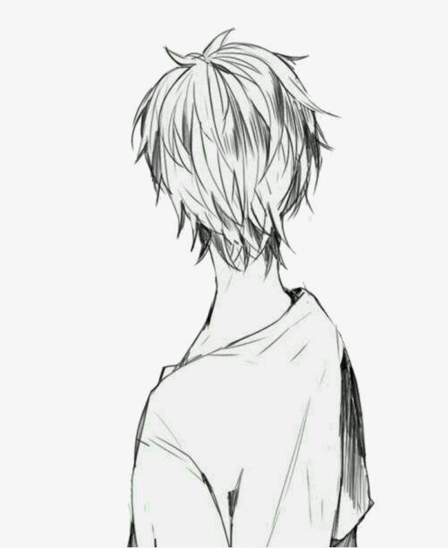 Anime Man Back Manga Hair Anime Boy Hair Anime Boy Sketch