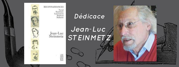 Rencontre avec Jean-Luc Steinmetz Le «Forum du Livre» de Rennes accueillera Jean-Luc Steinmetz, samedi 22 avril 2017 à partir de 15h30 dans son Café Littéraire. L'auteur y dédicacera son dernier livre « Reconnaissances », paru chez Cécile Defaut. La conférence sera animée par Christian Poirier.  https://www.unidivers.fr/rennes/rencontre-avec-jean-luc-steinmetz/ https://www.unidivers.fr/wp-content/uploads/2017/04/facebook_event_1441319899233055.jpg