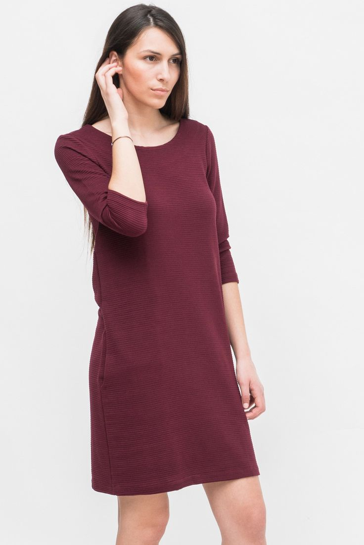 BURGUNDY 3/4 SLEEVE DRESS from Ozon Boutique