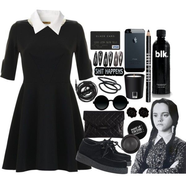 Black dress halloween costume pinterest everything