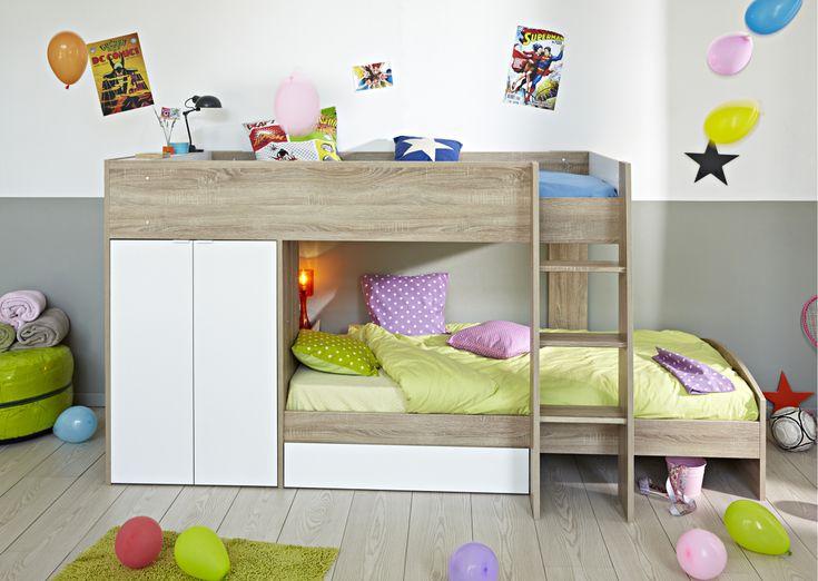 90x200 etagenbett mit kleiderschrank jetzt bestellen unter - Coolste Etagenbetten