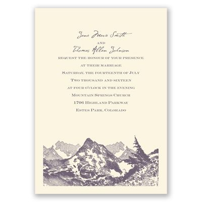 17 best ideas about mountain wedding invitations on With wedding invitations for less than 1
