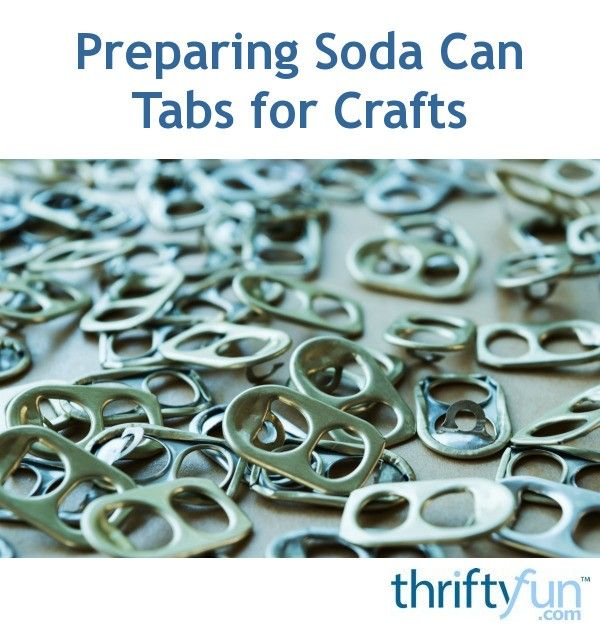 There are many craft uses for soda can tabs. This is a guide about preparing soda can tabs for crafts.