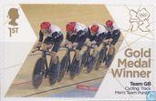 Timbres-poste - Grande-Bretagne - Jeux olympiques de Londres #cyclisme sur piste