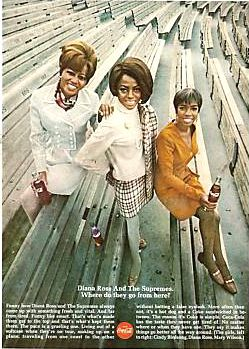 Supremes & Coca Cola 1967~This has got to be my most FAVORITE coke ad by far