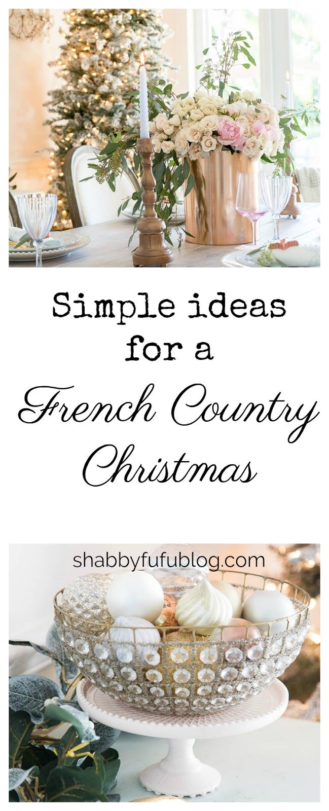 How To Create A Beautifully French Country Christmas #ChristmasDiningRoomDecor #flockedtree #Frenchcountrychristmas