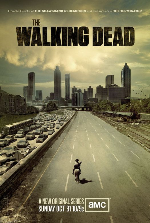 Poster for The Walking Dead, television series developed by Frank Darabont, 2010. From the essay: How We Learned to Live with Zombies