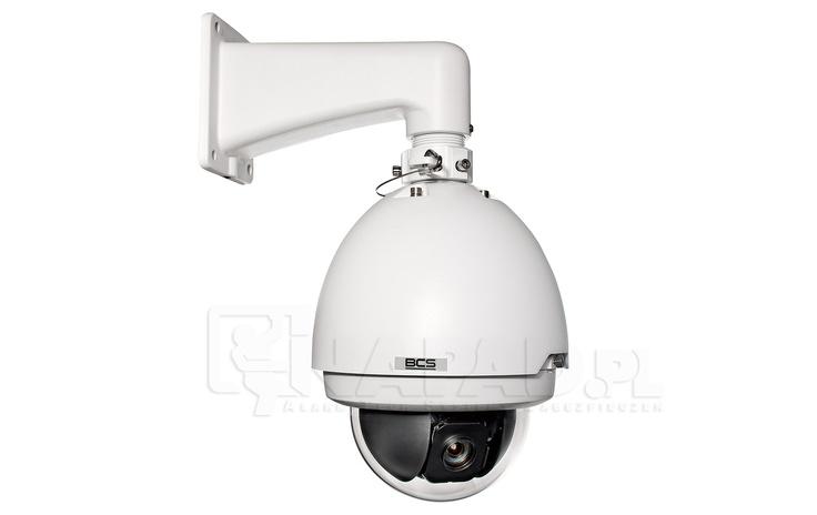 Kamera szybkoobrotowa megapixelowa BCS SD6582AHN. Przetwornik 1/3 Eemor 2.0Mpx 3 osie regulacji. Kamera obrotowa PTZ SD6582AHN firmy BCS to zaawansowana technologicznie kamera szybkoobrotowa przeznaczona do całodobowej pracy w instalacjach monitoringu. Kamera wyposażona została w wydajny przetwornik obrazu i pozwala na archiwizowanie materiału wideo w wysokiej rozdzielczości 2 megapikseli. Kamera obsługuje karty pamięci SD oraz wspiera standard pracy ONVIF. Zobacz więcej kamer…